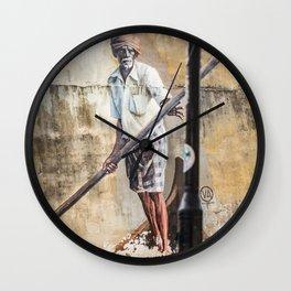 The Boat Man - Lebuh Klang - George Town, Penang Street Art Wall Clock
