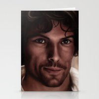 outlander Stationery Cards featuring Jamie  by Pia Langfeld