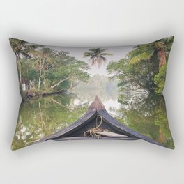 Backwaters, Kerala, India Rectangular Pillow