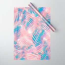 Palm Leaves - Iridescent Pastel Wrapping Paper