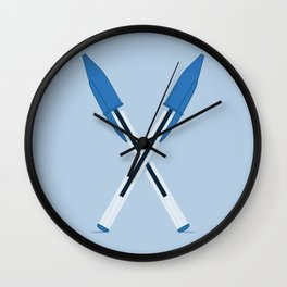 Mightier than the Sword Wall Clock