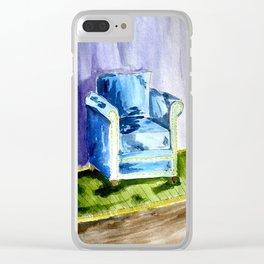 Sad Chair Clear iPhone Case