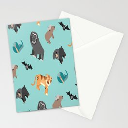 ASIAN JUNGLE ANIMALS PATTERN Stationery Cards