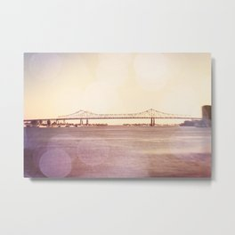 Greater New Orleans Bridge over the Mississippi Metal Print