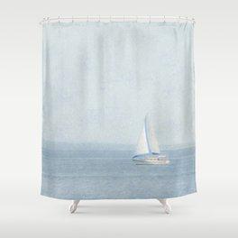 Sailboat  Shower Curtain