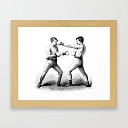 Men with Mustaches Framed Art Print