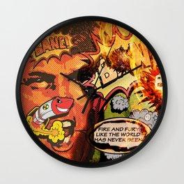 Super Supreme Action Hero POTUS Trump Wall Clock