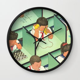 Mind Your Own Business Wall Clock