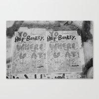 banksy Canvas Prints featuring Banksy by Felicia Marie