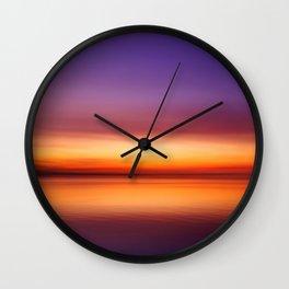 sunset rainbow Wall Clock
