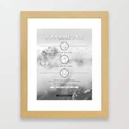 1 corinthians 2:9 Framed Art Print