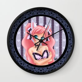 Lavender Lace Wall Clock