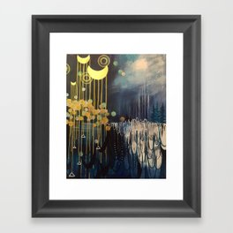 Rain Spell Original Painting by Rachael Rice Framed Art Print