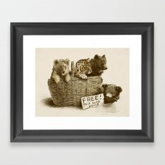 Lions and Tigers and Bears Framed Art Print
