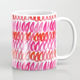 Pink Red Ocean Droplets Coffee Mug