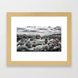 Historic Rockport Harbor Framed Art Print