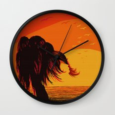 The Face in the Willow Wall Clock