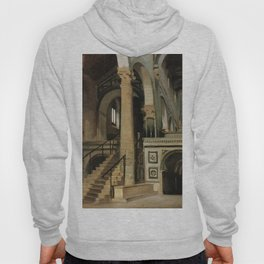 Interno Di San Miniato 1861 Circa By Telemaco Signorini | Reproduction | Italian Painter Hoody