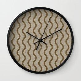 Varnish Pattern Kraft (wave) Wall Clock