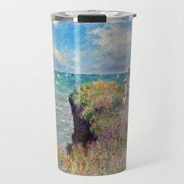 Claude Monet Cliff Walk at Pourville Travel Mug