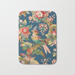 Antique French Chinoiserie in Blue Bath Mat