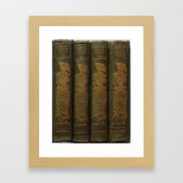Sir Walter Scott Book Collection Framed Art Print
