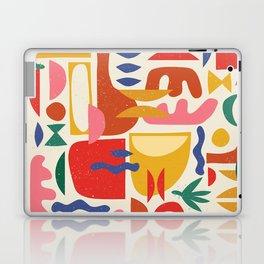 Mid Century Summer Abstraction Pattern Laptop & iPad Skin