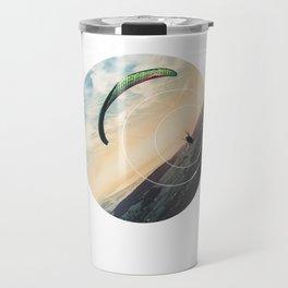 Skydive Gravity - Geometric Photography Travel Mug