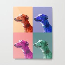 Greyhounds. Pop Art portrait. Metal Print