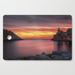 Spectacular sunset in Portovenere Cutting Board