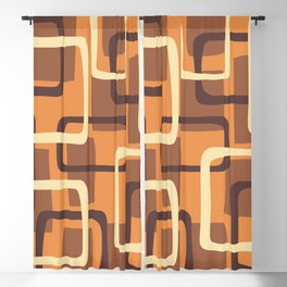 Mid Century Modern Overlapping Squares Pattern 136 Blackout Curtain