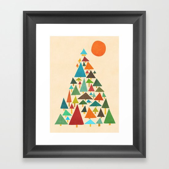 The house at the pine forest Framed Art Print
