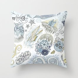 Tattoo Pattern Throw Pillow