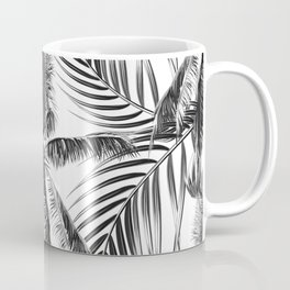 South Pacific palms II - bw Coffee Mug