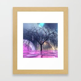 the crying tree Framed Art Print