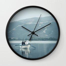 ROW ROW ROW Wall Clock