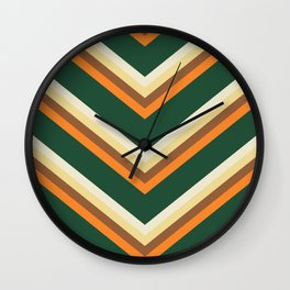 Mexican poncho pattern Wall Clock