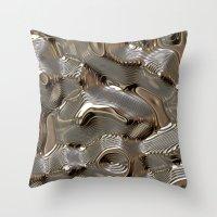 metallic Throw Pillows featuring Metallic by LoRo  Art & Pictures