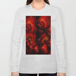 Inner Glow 4 Spiral Red Long Sleeve T-shirt