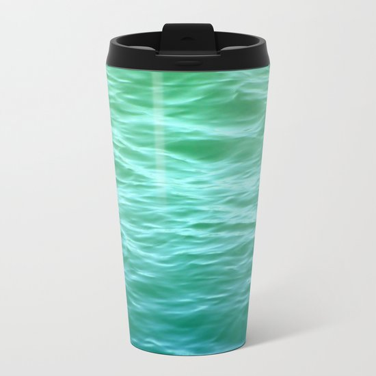 Teal Sea Metal Travel Mug