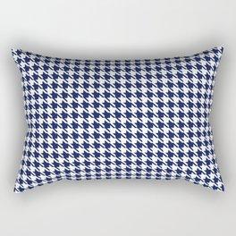 PreppyPatterns™ - Modern Houndstooth - navy blue and white Rectangular Pillow