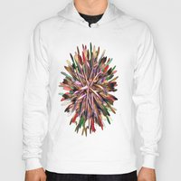 metallic Hoodies featuring Metallic Snowflake by Brian Raggatt