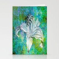 lily Stationery Cards featuring Lily by Saundra Myles
