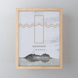 Iceberg (letter I) Framed Mini Art Print