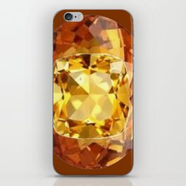 HONEY YELLOW  CITRINES SEPTEMBER  BIRTHSTONES ART iPhone Skin