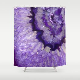 Purple Crystal Shower Curtain