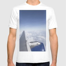 Freedom Of Flight MEDIUM Mens Fitted Tee White