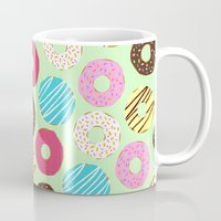 donut Mugs featuring Donut by Charlotte Lucy