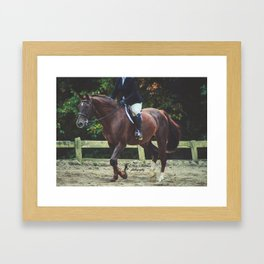 """""""All Riders Trot Please, All Riders Trot"""" Framed Art Print"""