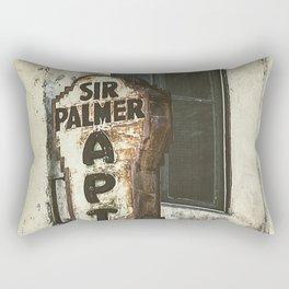 Sir Palmer Apts. Vintage Sign, Echo Park Rectangular Pillow